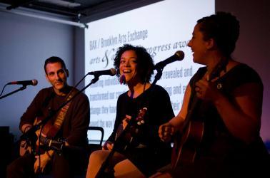 KSR at the BAX Arts and Artists in Progress Awards in Brooklyn, NY (photo by Angela Jimenez)