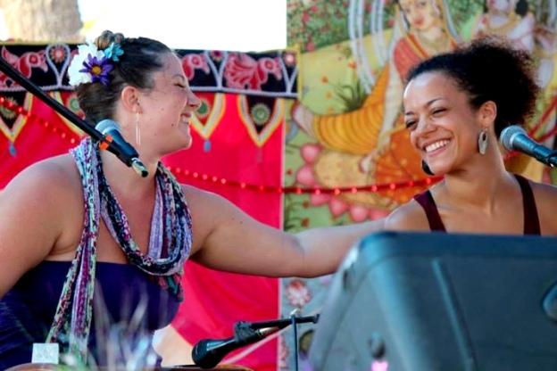 Helen & Calia at Bhakti Fest West in Joshua Tree, CA (photo by Jennifer Mazzucco)