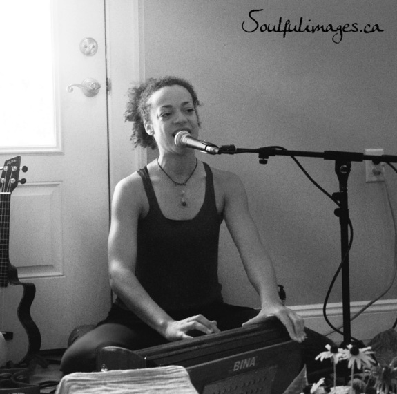 Calia at Evolution Yoga in Burlington, VT (photo by Julie Rousseau • www.soulfulimages.ca)