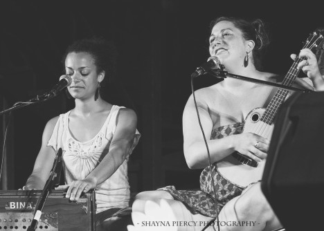 Calia & Helen at Berwick Yoga Festival in Nova Scotia, Canada (photo by Shayna Piercy)