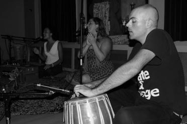 Calia, Helen & KC at Jivamukti Yoga NYC (photo by Jesse Johnson • www.mediatribenyc.com)