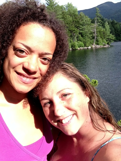 Calia & Helen on a rest day in Upstate NY