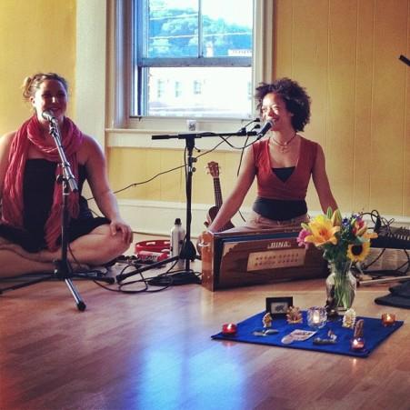 Helen & Calia at Yoga Mountain in Montpelier, VT