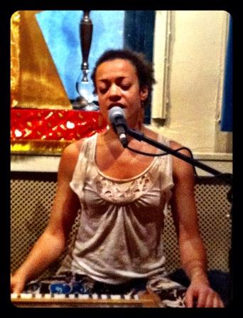 Calia at Jivamukti Yoga in NYC (photo by Keith Villanueva)