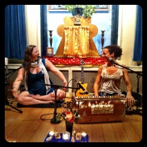 Helen & Calia at Jivamukti Yoga in NYC (photo by Keith Villanueva)