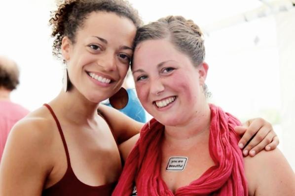 Calia & Helen at Bhakti Fest West in Joshua Tree, CA (photo by Jennifer Mazzucco)