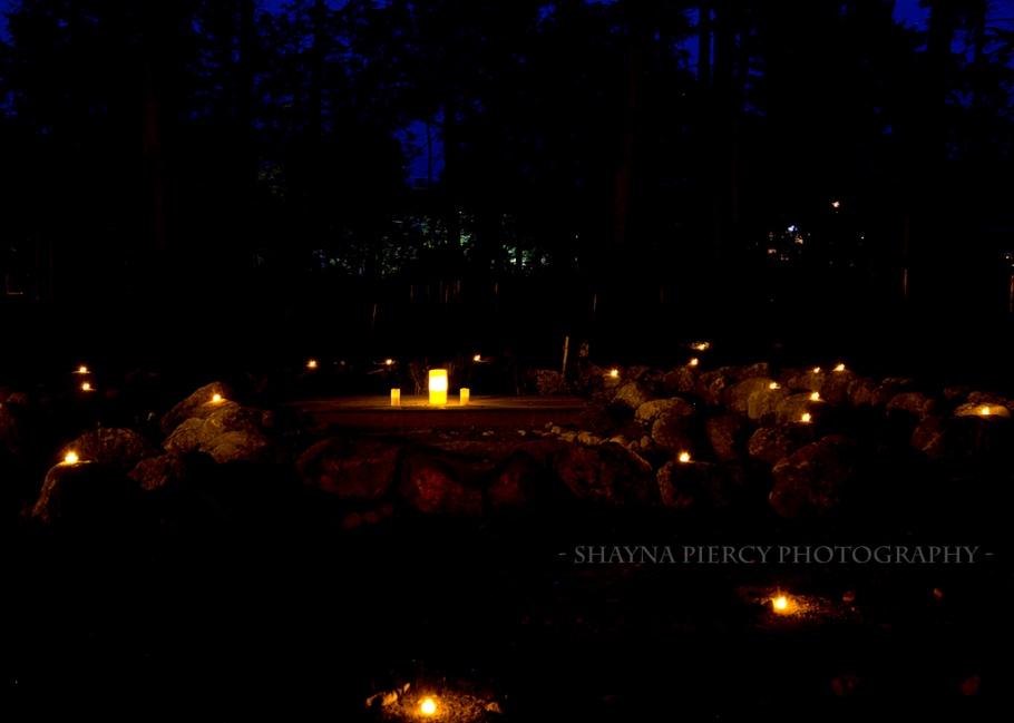 Labyrinth candle