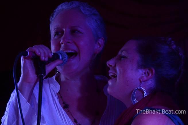 Helen with Brenda McMorrow at Ahimsa Yoga and Music Festival in Windham, NY (photo by Brenda Patoine • www.thebhaktibeat.com)