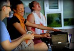 KSR at Berwick Yoga Festival in Nova Scotia, Canada (photo by Steve Currie)