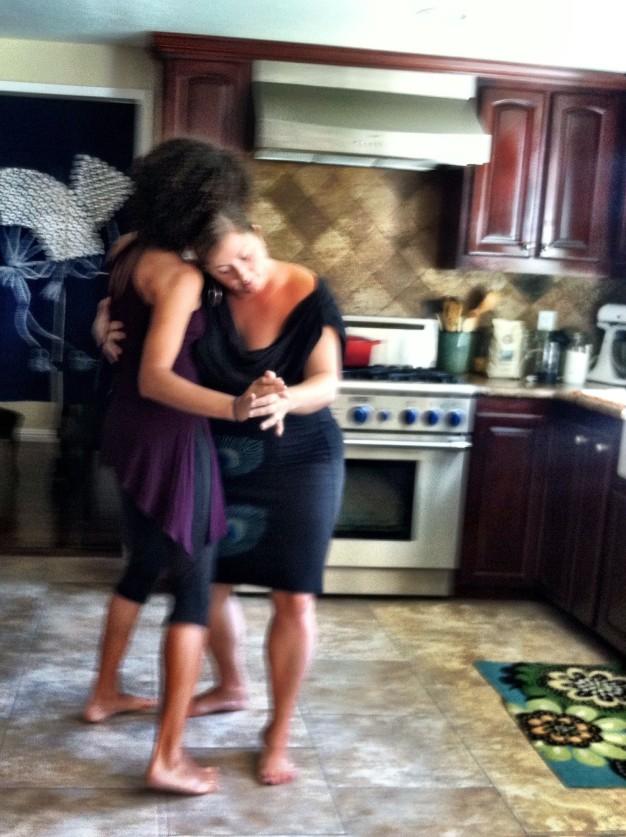 Kitchen dancing...