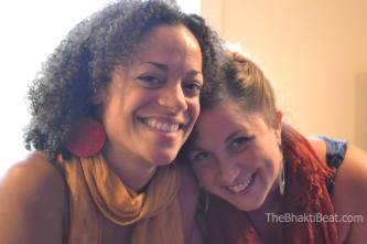 Calia & Helen at Ahimsa Yoga and Music Festival in Windham, NY (photo by Brenda Patoine • www.thebhaktibeat.com)