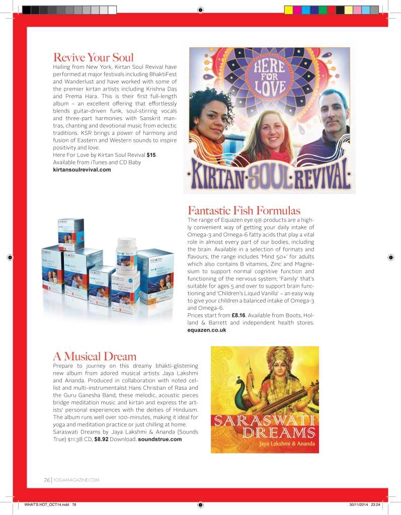 KSR review in Yoga Magazine UK
